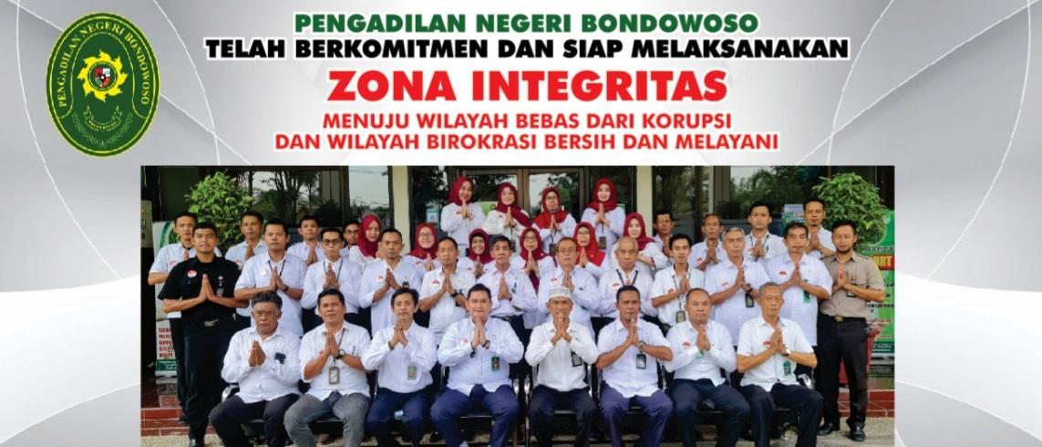 """Pengadilan Negeri Bondowoso  Telah Berkomitmen dan Siap Melaksanakan """"ZONA INTEGRITAS"""""""